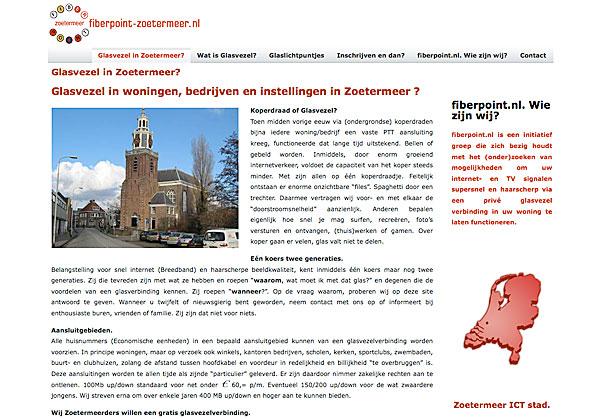 website fiberpoint-zoetermeer.nl online door dtp-hulp.nl