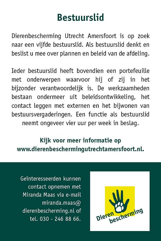Advertentie Dierenbescherming