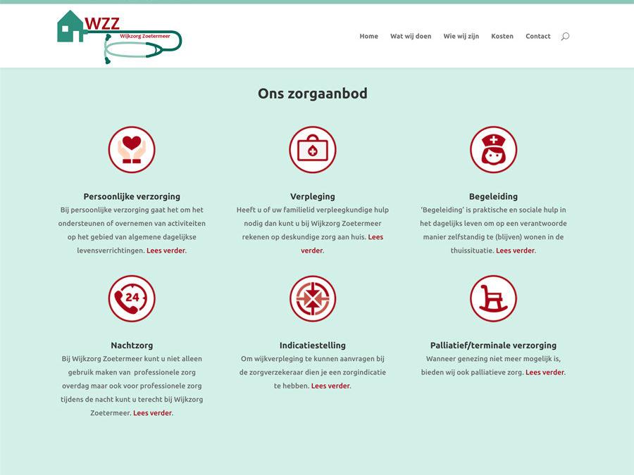 Website Wijkzorg Zoetermeer