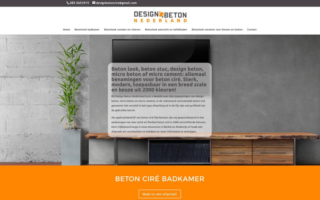 Website Designbetonnederland.nl