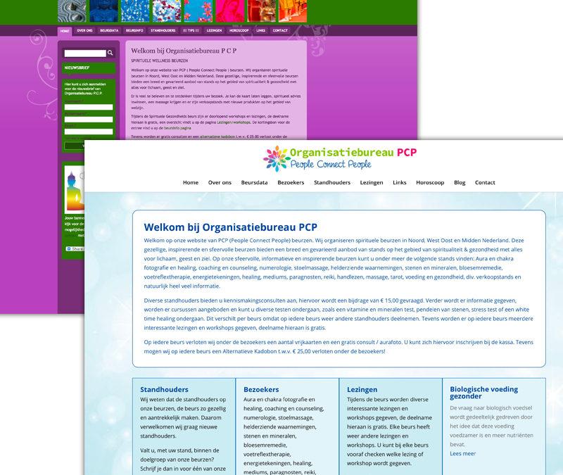 Website ontwerp organisatiebureau PcP