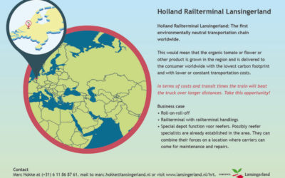 Holland Railterminal flyer Gemeente Lansingerland