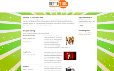 Website theater 't Web