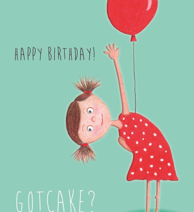 Happy birthday – A6 kaart