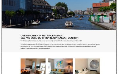 Website B&B Au Bord du Rhin Alphen aan den Rijn