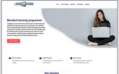 Website en logo Lingo@work