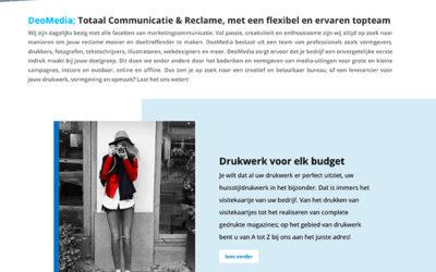 Vernieuwde website Deomedia