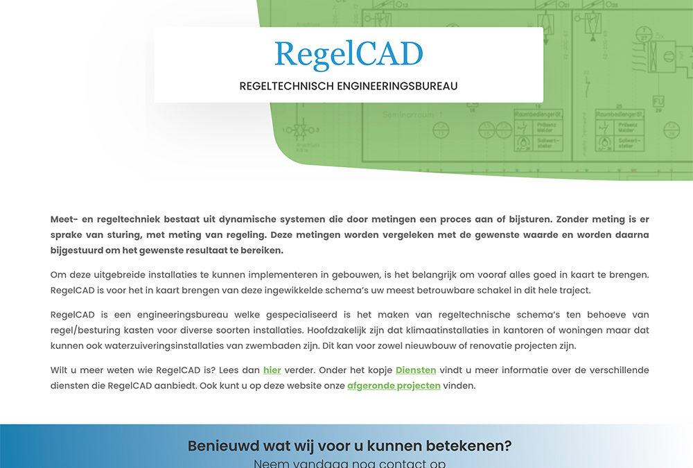 Vernieuwde website Regelcad